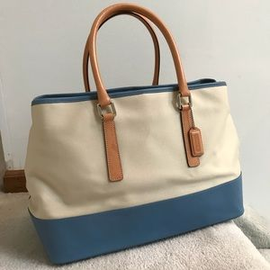 {Like New!} Vintage COACH Leather+Canvas Bag